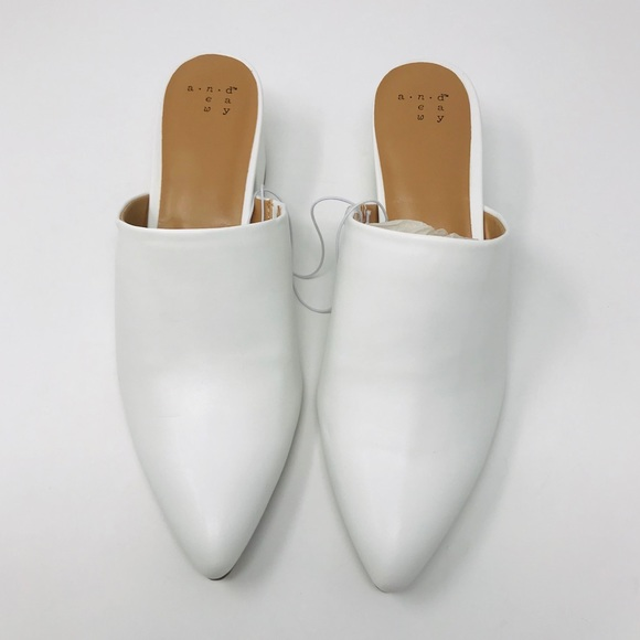 Womens 8m A New Day Bianca White Heeled